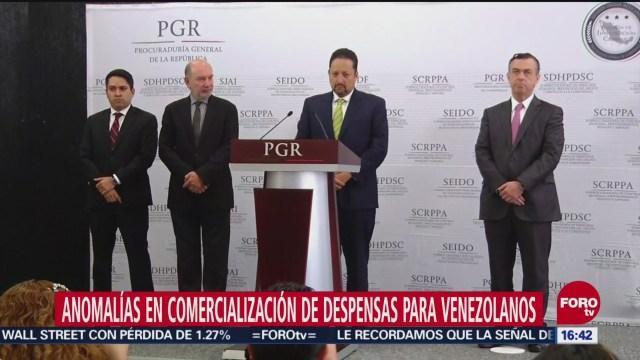 PGR investiga a empresa por lucrar con despensas para Venezuela