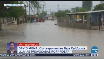 Población de Baja California espera el embate de la tormenta Rosa