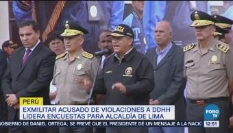 Polémico Exmilitar Participará Elecciones Regionales Perú