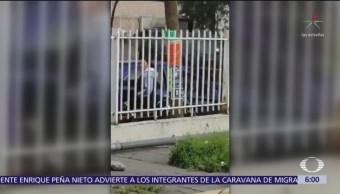 Policía golpea a hombre en Acolman, Estado de México