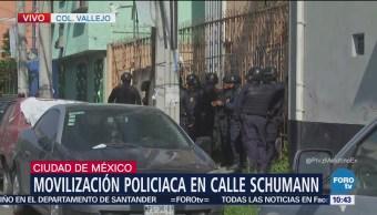 Policías buscan presuntos asaltantes en colonia Vallejo