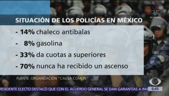 Policías de México pagan botas y uniformes con su sueldo