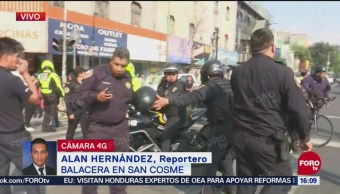 Policías y presuntos delincuentes se enfrentan en Ribera de San Cosme