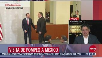 Pompeo Visita México Ante Crisis Migratoria