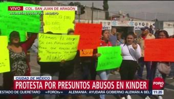 Protestan por presuntos abusos en Kinder en Aragón