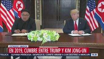 Prevén Cumbre Trump-Kim Comienzos De 2018