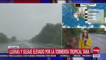 Prevén lluvia durante la tarde y la noche del martes en Colima por el acercamiento de la tormenta tropical 'Tara'