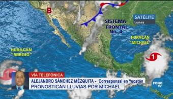 Pronostican lluvias por huracán 'Michael' en Yucatán
