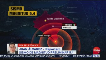 Protección civil en Chiapas no reporta daños por sismo