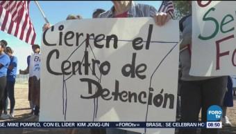 Protestan Frente Instalaciones Inmigración En Eu