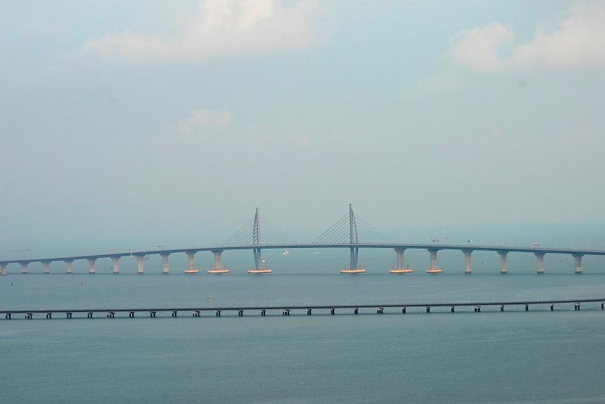 China inaugurará el puente sobre el mar más largo del mundo