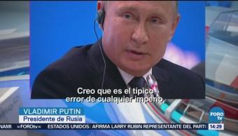 Putin critica política monetaria y dólar de Estados Unidos