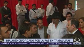 Reactivan foro de pacificación en Tamaulipas