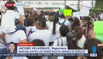 Realizan Marcha Contra Feminicidios Ecatepec