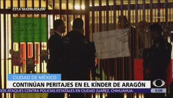Realizan peritajes en el kínder de San Juan de Aragón