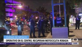 Recuperan motocicleta con reporte de robo en Viaducto Miguel Alemán
