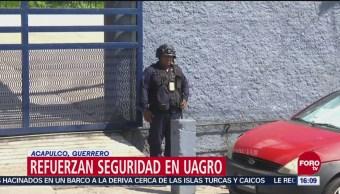 Refuerzan seguridad en la UAGRO