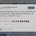 Registran temblor magnitud 2.4 en Coyoacán