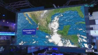 Remanentes de 'Tara' provocan lluvias