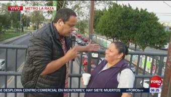 Repor entrevista a transeúntes en Metro La Raza