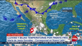Reportan lluvias y frío en Nuevo León