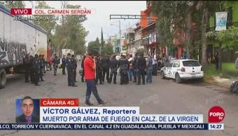 Reportan un muerto por disparos en Calzada de la Virgen