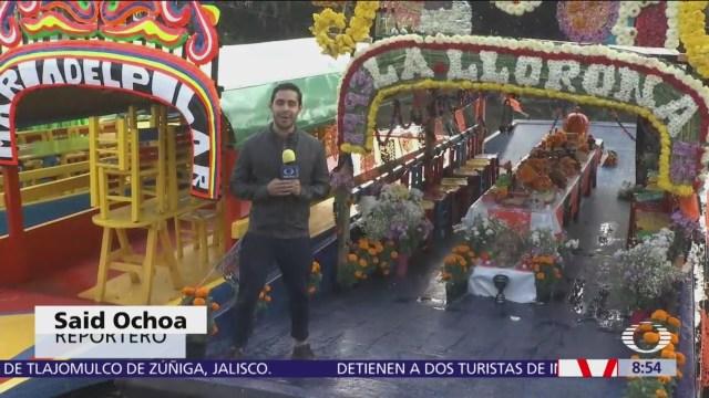 Representan 'La Llorona' en embarcadero de Cuemanco