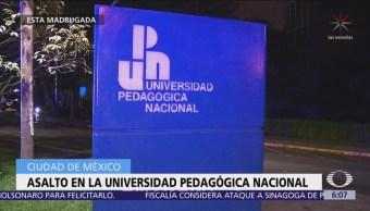 Roban cajeros automáticos en la Universidad Pedagógica Nacional