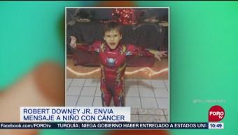 Robert Downey Jr. envía mensaje a niño con cáncer