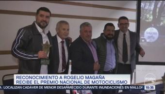 Roger Magaña recibe Premio Nacional de Motociclismo