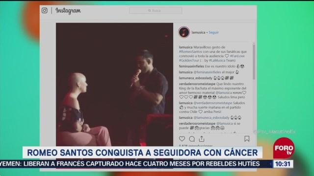 Romeo Santos conquista a seguidora con cáncer