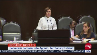 Rosario Robles Comparece Cámara Diputados Estafa Maestra