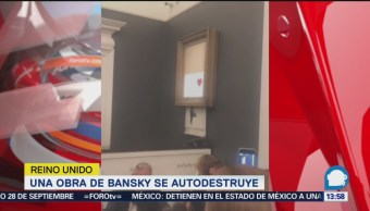 Autodestruye Obra Banksy Subastada
