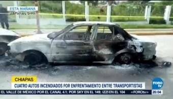 Enfrentan Taxistas Reforma Chiapas Enfrentamiento Pelea Por Ruta
