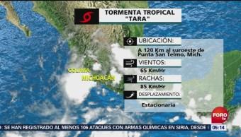 Se forma la tormenta tropical 'tara' frente a Colima y Michoacán