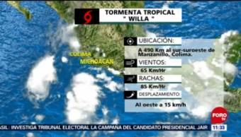 Tormenta Tropical Willa, 490 Kilómetros Al Sur-Suroeste De Manzanillo, Colima, Lázaro Cárdenas, Michoacán