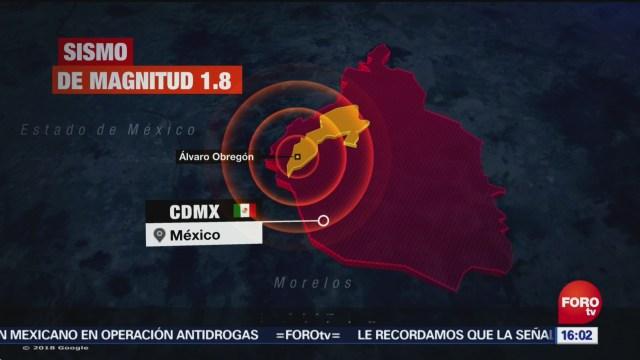 Sismo De Magnitud 1.8 Norte Álvaro Obregón Cdmx