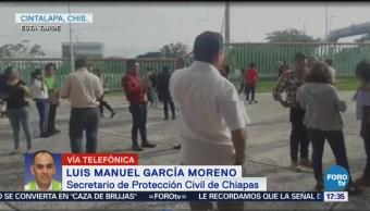 Sismo de magnitud 5.4 remece Chiapas y Oaxaca