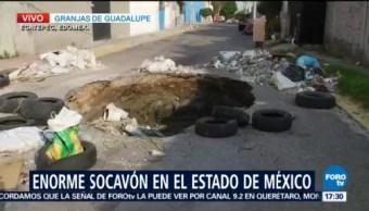 Socavón en Granjas Guadalupe, Ecatepec