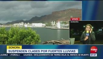 Suspenden clases en Sonora por lluvias provocadas por tormenta 'Sergio'