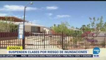 Suspenden clases en Sonora, por riesgo de inundaciones