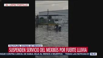 Suspenden servicio del Mexibús por fuerte lluvia