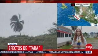 Tara deja encharcamientos en Colima y Jalisco