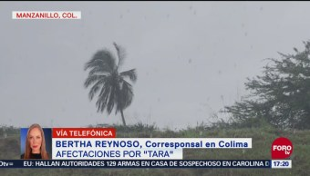 Tecomán, Armería y Manzanillo, municipios colimenses afectados por Tara