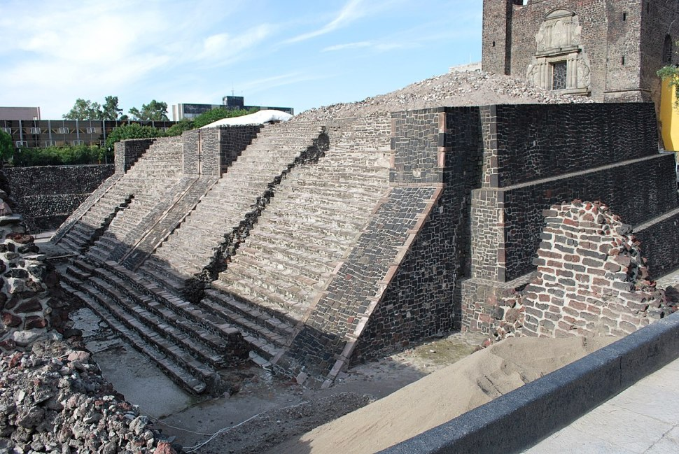 Templo Mayor de Tlatelolco, base del Colegio de Santa Cruz Tlatelolco (Wikimedia Commons)