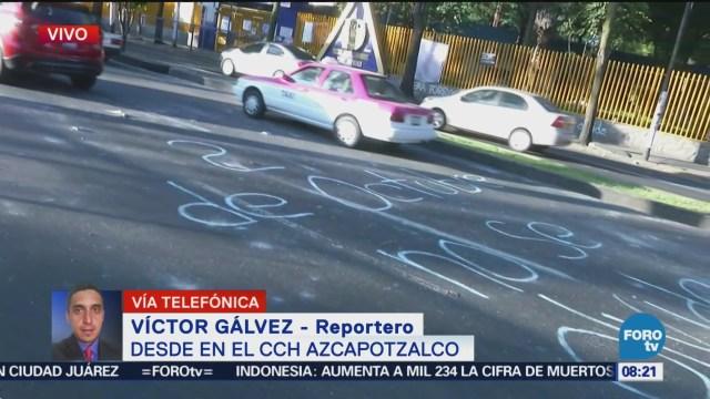 Termina bloqueo de vialidades en CCH Azcapotzalco