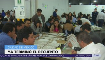 Termina recuento total de votos de elección para gobernador