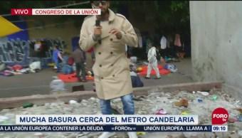 Tiran basura en Metro Candelaria, reporta Bryan Mendoza