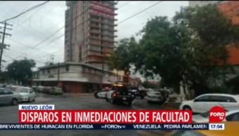 Tiroteo cerca de la Facultad de Medicina, en Monterrey