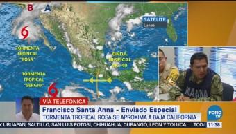 Tormenta Rosa deja lluvia acumulada 30 mm Baja California